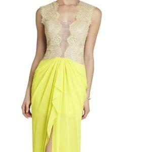 BCBGMaxAzria Brandy Sleeveless  Lace Bodice Gown.